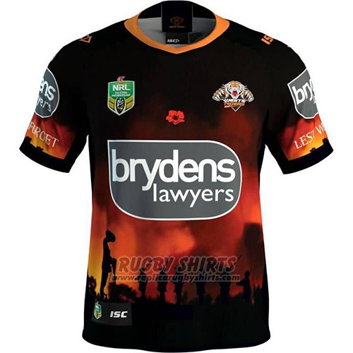 Wests Tigers Rugby Shirt 2018-19 Commemorative